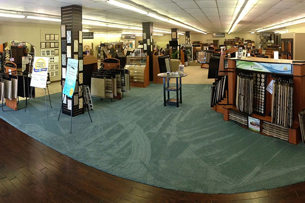 Our 8,000 sq.ft. showroom showcases carpet, hardwood, ceramic porcelain, resilient, laminate and area rugs.