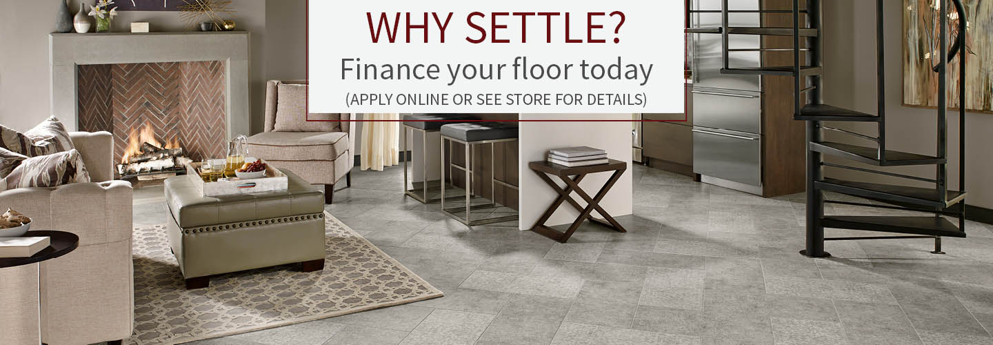 Financing your floor has never been easier.  Click here to learn about all of our financing offers!