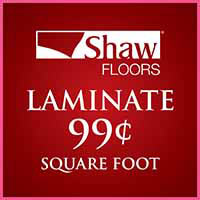 Love your Floors! Shaw laminate on sale for $0.99 sq ft