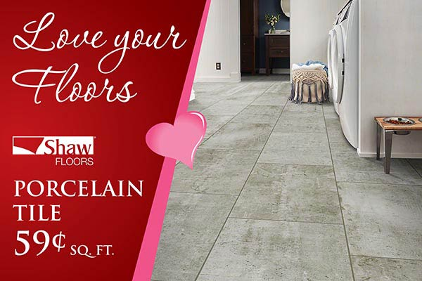 Love your Floors! Shaw porcelain tile only $0.59 sq ft