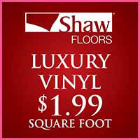 Love your Floors! Shaw luxury vinyl Endura Plus Collection on sale for $1.99 sq ft